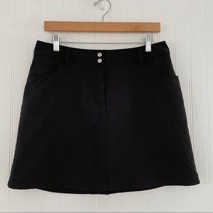 Slazenger Skort Tennis Golf Style Black Size 8
